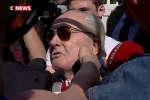 Jean-Marie Le Pen, président d'honneur du Front national, est resté à la porte du bureau politique du parti, le 20 juin.