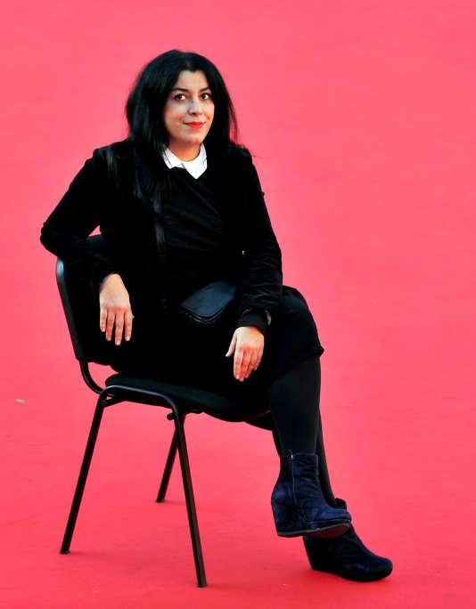L'écrivaine et réalisatrice iranienne Marjane Satrapi à la septième édition du Film Festival de Rome, le 16 novembre 2012.