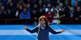 L'ancienne présidente argentine Cristina Kirchner lors d'un meeting à Buenos Aires, le 20 juin.