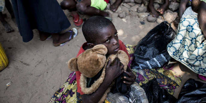 Au camp de déplacés de Kikwit, en République démocratique du Congo (RDC), le 7juin 2017.