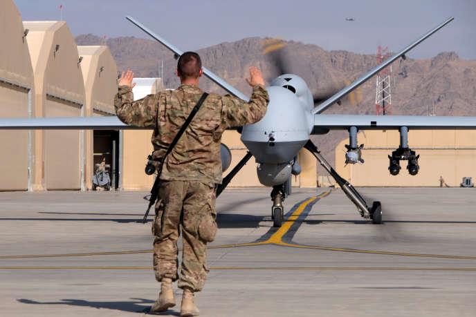 L'essentiel des emplois dans le secteur des drones est assuré par l'Armée. Ici un MQ-9 Reaper de l'US Air Force.