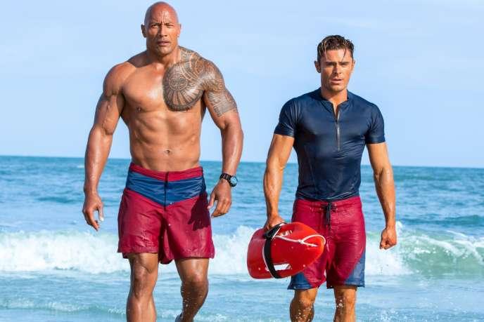 Dwayne Johnson et Zac Efron dans le film américain de Seth Gordon,«Baywatch – Alerte à Malibu».