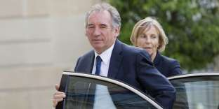 (FILES) This file photo taken on June 25, 2016 shows France's justice minister Francois Bayrou (C) and Minister of European Affairs Marielle de Sarnez arriving for a meeting with French President at the Elysee Palace in Paris. Francois Bayrou, a key ally of President Emmanuel Macron, told AFP on June 21, 2017 he was quitting the government, as his party battles a funding scandal. French Minister of European Affairs Marielle de Sarnez will preside the Modem group at the Assembly. / AFP / GEOFFROY VAN DER HASSELT