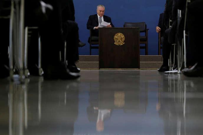 Le président brésilien Michel Temer, en novembre 2016 à Brasilia.