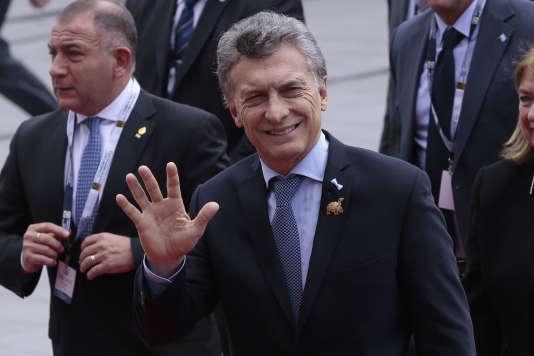 Le président argentin Mauricio Macri, le 24 mai à Quito pour l'investiture du président équatorien Lenin Moreno.