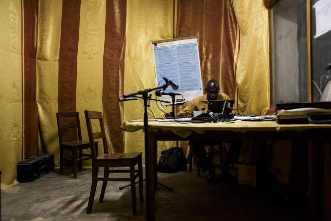 Le studio de Radio Tomisa, à Kikwit, en République démocratique du Congo (RDC).
