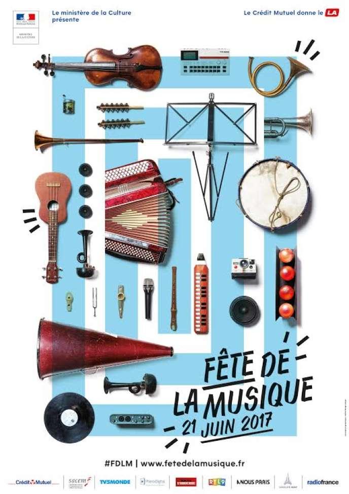Affiche de la Fête de la musique 2017.
