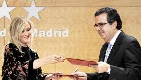 La présidentede la communauté madrilène, reçoit 46,5 millions d'euros de José Arnau, vice-président exécutif de la fondation Amancio Ortega.