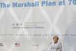 La chancelière allemande Angela Merkel lors des 70ans du plan Marshall, à Berlin, le mercredi 21juin.