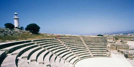 L'odéon du parc archéologique de Paphos.