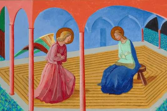 «Annonciation 2», de David Hockney, d'après Fra Angelico, issu du «Triptyque des choses sérieuses».