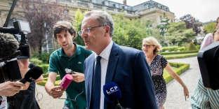 Richard Ferrand à son arrivée à l'Assemblée nationale, mardi 20 juin.