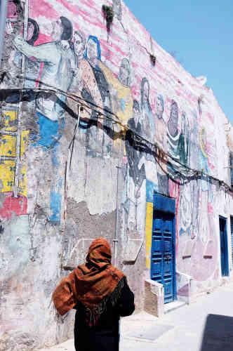 Les couleurs de Tunis, au détour d'une ruelle de la médina.