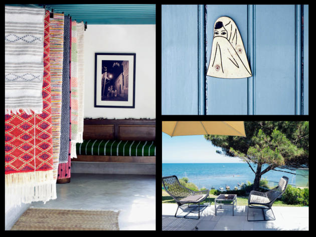 Non loin de de la médina à Tunis, Fondouk ElAttarine (à gauche et en haut), un ancien caravansérail, abrite un restaurantet un artisanat de qualité.À la Marsa, une banlieue chic de Tunis, l'hôtel Movenpick offre une vue imprenable.