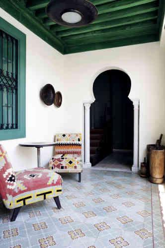 Une alcôve des chambres d'hôtes Dar Ben Gacem.