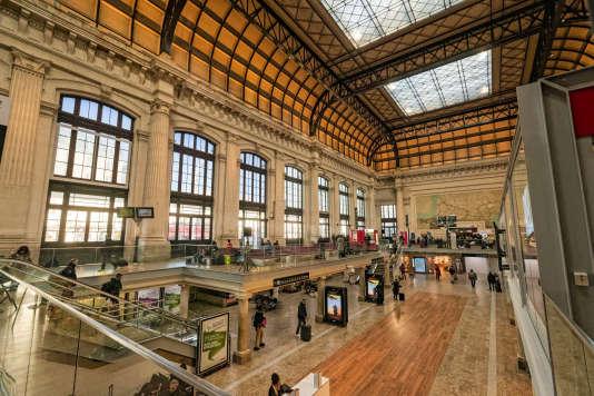 Le grand hall de la gare de Bordeaux Saint-Jean après sa rénovation, en janvier 2017.