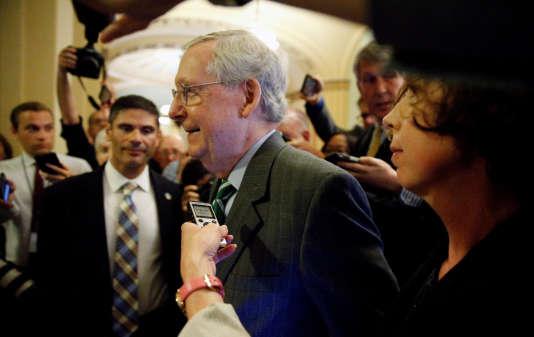 Mitch McConnell, leader de la majorité républicaine au Sénat des Etats-Unis, le 22 juin.