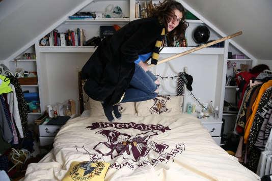 Une fan de la saga «Harry Potter»,à Londres.