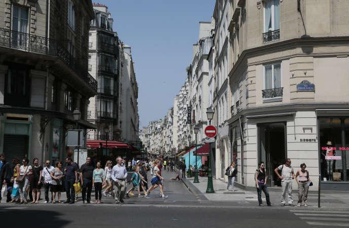 Le quartier de Montorgueil, dans le 2e arrondissement à Paris, est particulièrement touché par l'«airbnbisation».