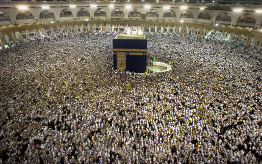 La Kaaba, au cœur de la mosquée de La Mecque lors du pèlerinage du Hadj, en Arabie saoudite, le 22 juin 2017.
