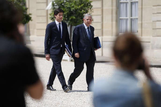 Jacques Mézard, ministre de la cohésion des territoires, et son secrétaire d'Etat, Julien Denormandie, devaient recevoir les opérateurs télécoms vendredi 7 juillet pour évoquer la couverture en Internet très haut débit en France.