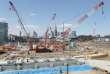 Le chantier du futur Stade national construit pour les Jeux olympiques d'été de 2020 à Tokyo, le 24 mars.