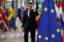 Emmanuel Macron à son arrivée au Conseil européen, à Bruxelles le 22 juin.