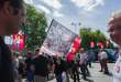 Manifestation des salariés de GM&S devant le ministère de l'économie, à Paris, le 16 juin.