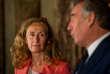 Nicole Belloubet et François Bayrou, lors de leur passation de pouvoir, au ministère de la justice (Paris), le 22 juin.