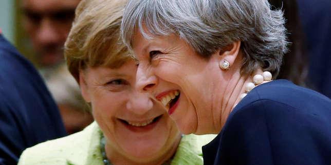 La chancelière allemande Angela Merkel et la première ministre britannique Theresa May, jeudi 22 juin, à Bruxelles.