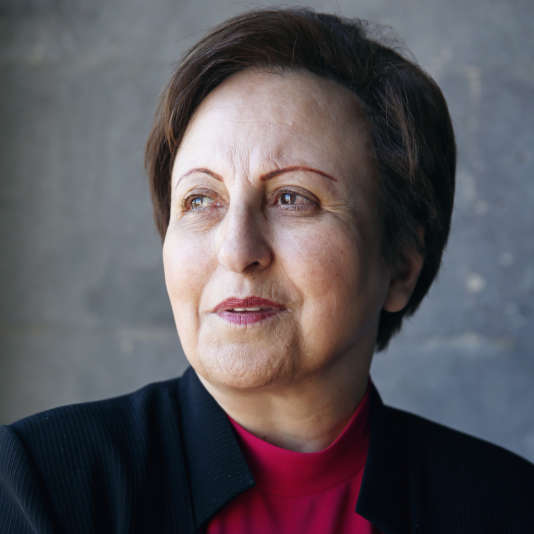 Shirin Ebadi à Yerevan, en Arménie, durant la cérémonie inaugurale du prix Aurora, le 23 avril 2016.