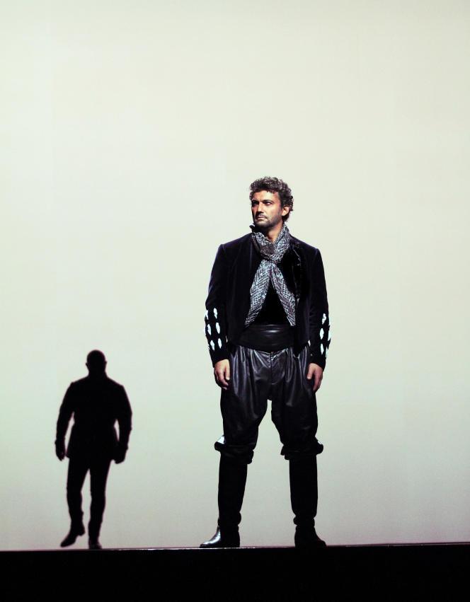 Le ténor Jonas Kaufmann dans le rôle d'Otello au Royal Opera House à Londres.