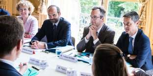 Rencontre avec les partenaires sociaux, à Matignon (Paris) le 29 mai.