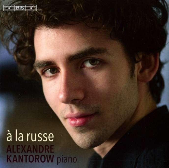 Pochette de l'album« A la russe», avec Alexandre Kantorow au piano.