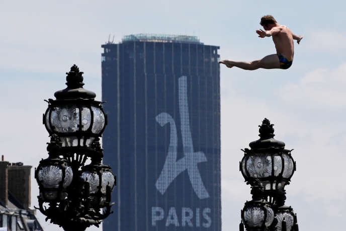 Le 23 juin 2017 à Paris, lors de la journée internationale olympique.