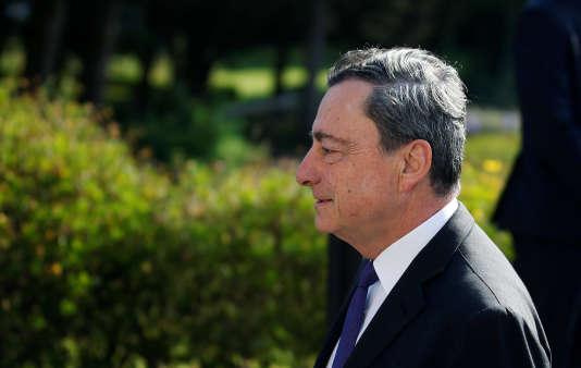 Le président de la Banque centrale européenne, Mario Draghi, le 27 juin, à Sintra.