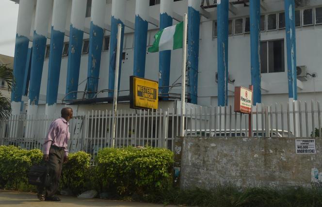 Agences Western Union et Moneygram à Benin City, dans le sud du Nigeria, en mars.