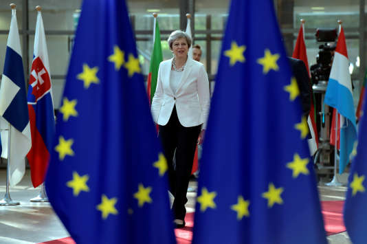 Theresa May, le 23 juin à Bruxelles.