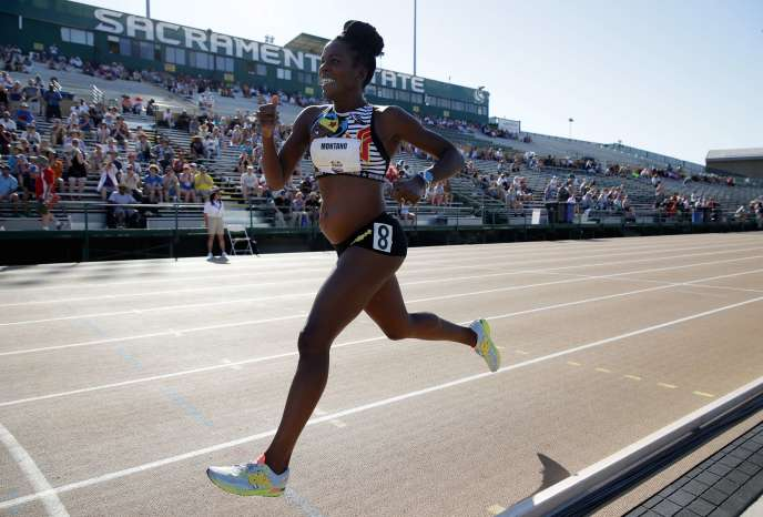 Alysia Montano, jeudi 22 juin, lors du 800 m des championnats des Etats-Unis.