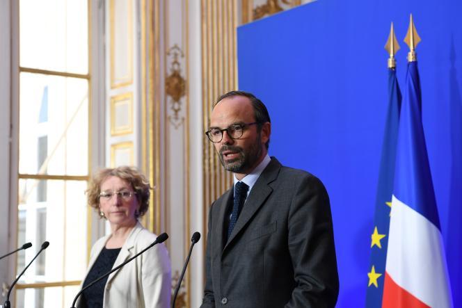 La ministre du travail Muriel Pénicaud et le premier ministre Edouard Philippe, à Paris, le 6 juin.