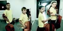 Des enfants participant à l'orchestre symphonique Démos.
