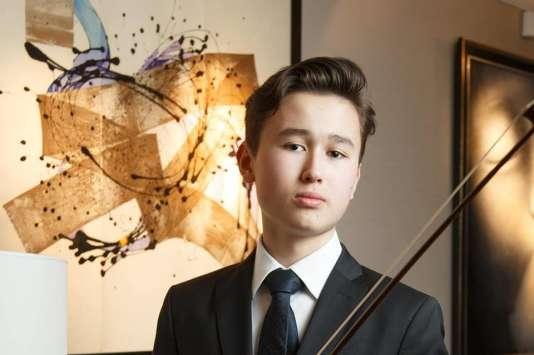 Le jeune violoniste suédois, Daniel Lozakovitj, en mai.