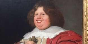«Portrait de Gerard Andriesz Bicker», Bartholomeus van der Helst, c. 1642. Collection Rijksmuseum. L'artisteOlly Gibbs a ajouté un sourire au personnage via l'application FaceApp. L'oeuvre originale est exposée à Amsterdam.