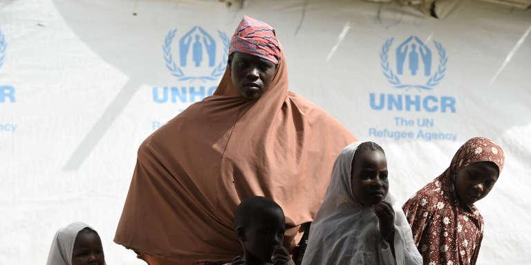 Des réfugiés nigérians dans un camp près de Baga Sola, au Tchad.