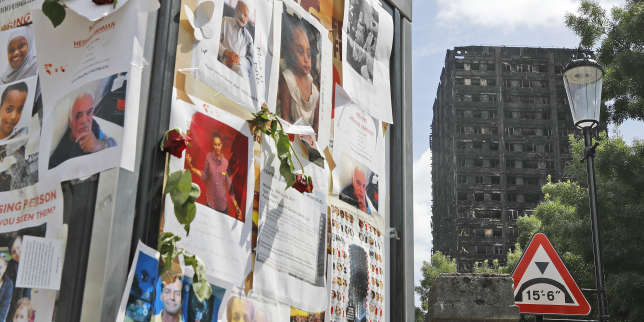 Pictures of missing people on a message board near to the burnt Grenfell Tower apartment building standing testament to the recent fire in London, Friday, June 23, 2017. British officials have ordered an immediate examination Friday, into a fridge-freezer that is deemed to have started the fire in the 24-storey high-rise apartment building early morning of June 14th, and the outside cladding of the building which is thought to have helped spread the fire, according to police, leaving dozens dead.(AP Photo/Frank Augstein)