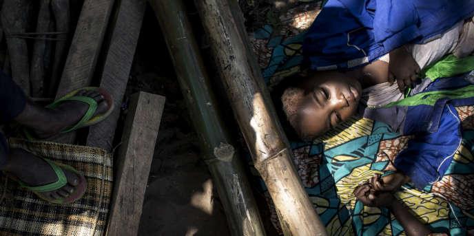 Un camp de déplacés fuyant les violences au Kasaï, à Kikwit, en République démocratique du Congo, le 7juin 2017.