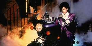 La célèbre pochette tirée de l'album« Purple Rain» de Prince.