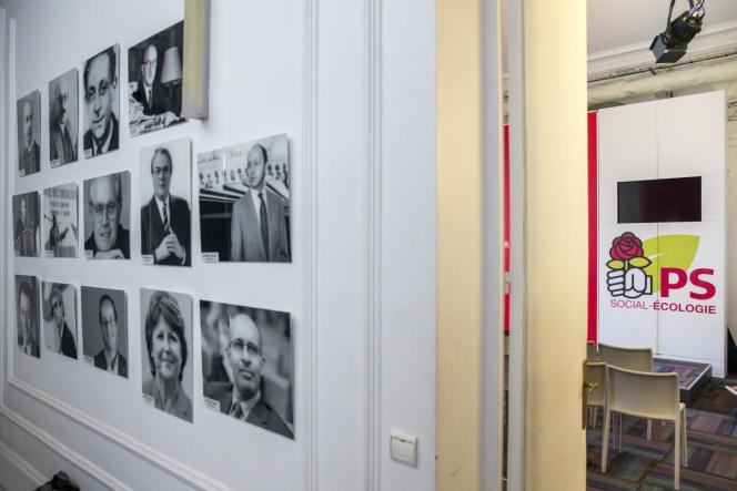 Après le Conseil national du Parti socialiste, au siège de la rue de Solférino.