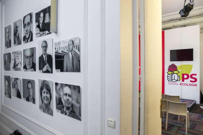 Au siège du Parti socialiste, rue de Solférino à Paris, le 24 juin.