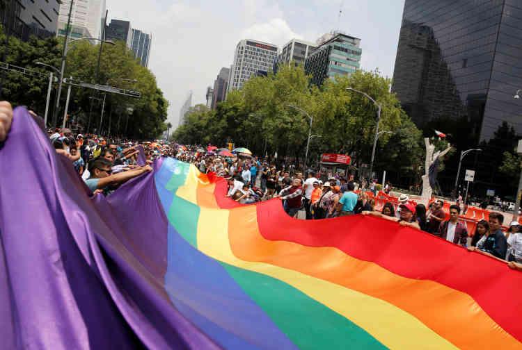 Samedi, la 39e Marche des fiertés a rassemblé des milliers de personnes dans la capitale mexicaine.